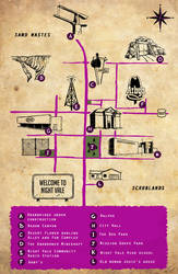 Night Vale tourist map by doodle-e