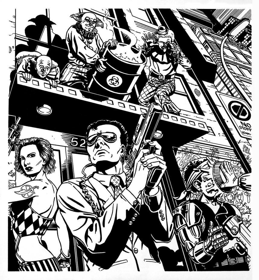 Cyberpunk - Clown Gang by SteamPoweredMikeJ