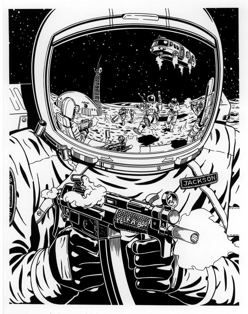 Far Side Comic Moon