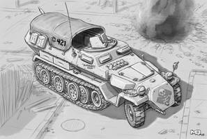 The Outfit - SdKfz With Canopy by SteamPoweredMikeJ
