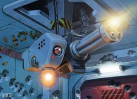 Shadowrun Card - Sentry Gun by SteamPoweredMikeJ