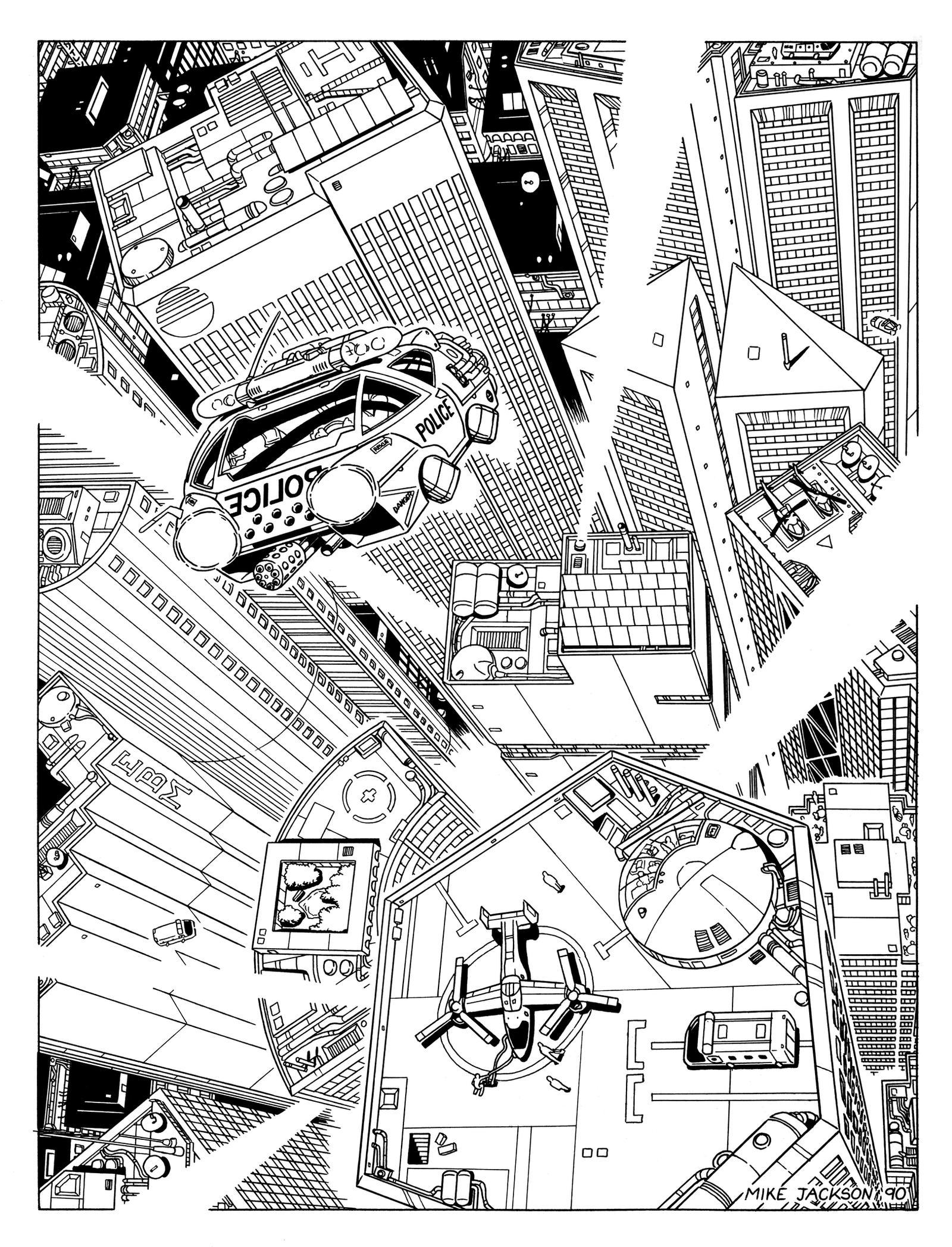 Cyberpunk - Night City by SteamPoweredMikeJ