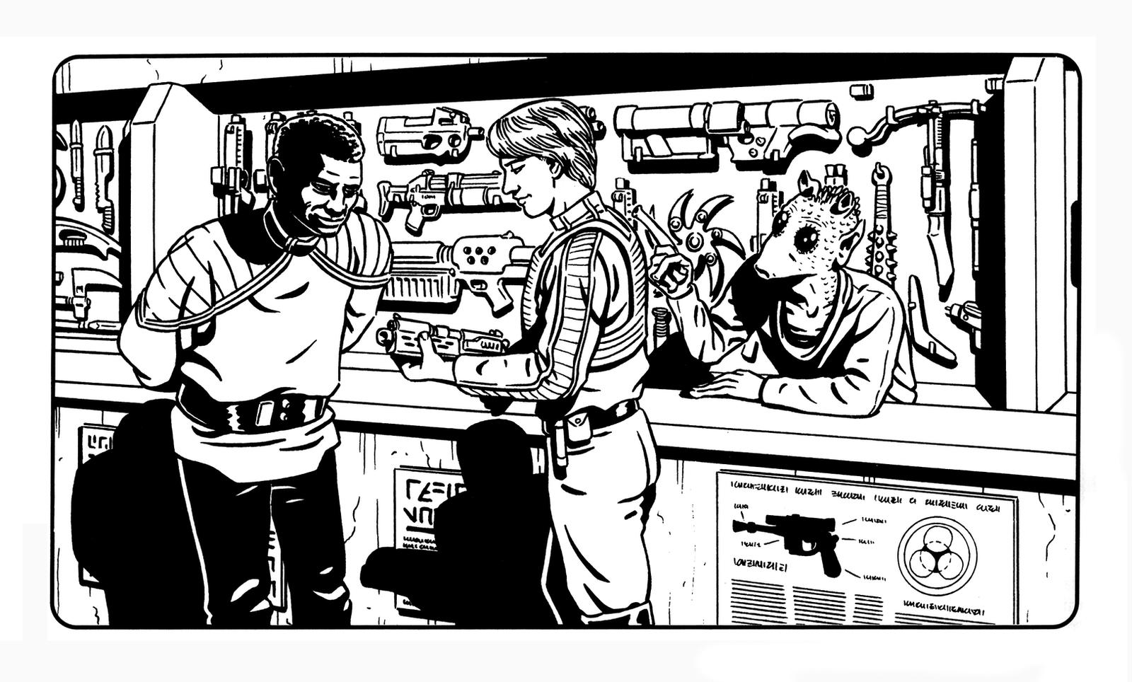 Star Wars - Gun Shop by SteamPoweredMikeJ