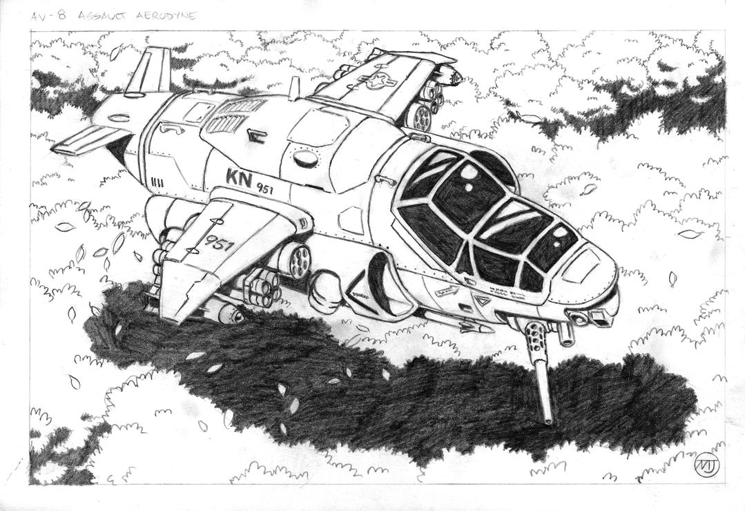 Cyberpunk - Assault Aerodyne by SteamPoweredMikeJ