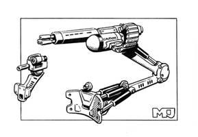 Shadowrun - Cyberguns by SteamPoweredMikeJ