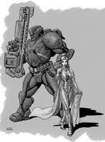 Work in Progress - Transhuman by SteamPoweredMikeJ