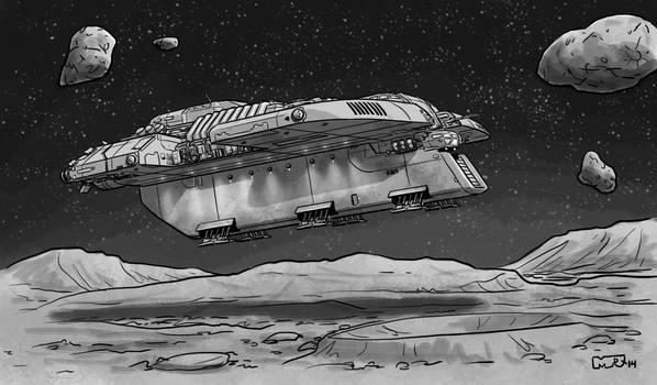 Traveller - Mining Ship