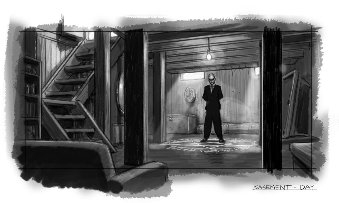 HTP - Basement sketch by SteamPoweredMikeJ