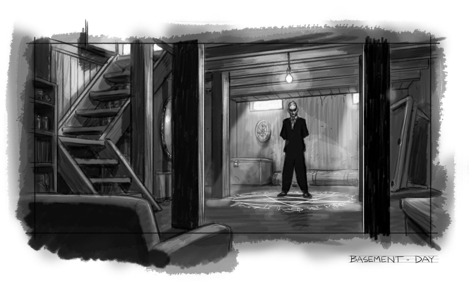 HTP - Basement sketch by SteamPoweredMikeJ