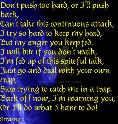 Don't Push Too Hard! by Seraena