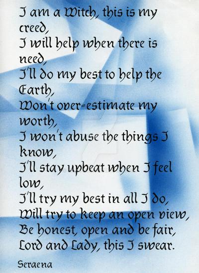 My creed by Seraena