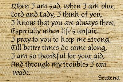 When I am sad by Seraena