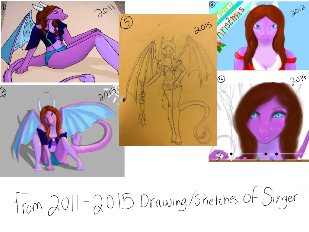 Collage of singer from 2011-2015 by Stormdeathstar9