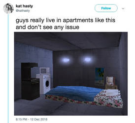 guys really live in apartments like this