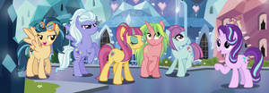 Starlight Glimmer meets the Shadowbolts (Pony)