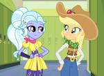 Sugarcoat and Applejack