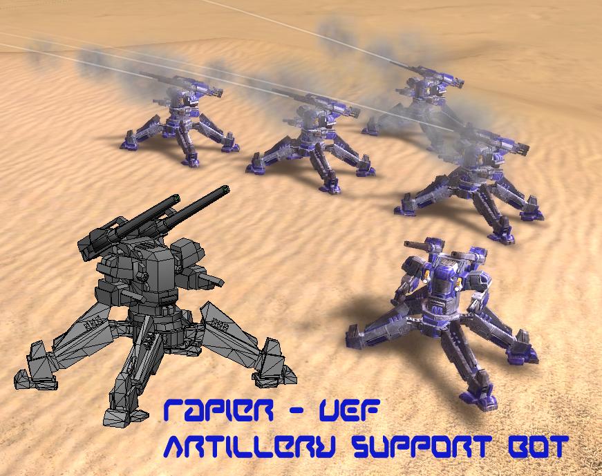 Rapier - UEF Artillery Bot by MikeTehFox