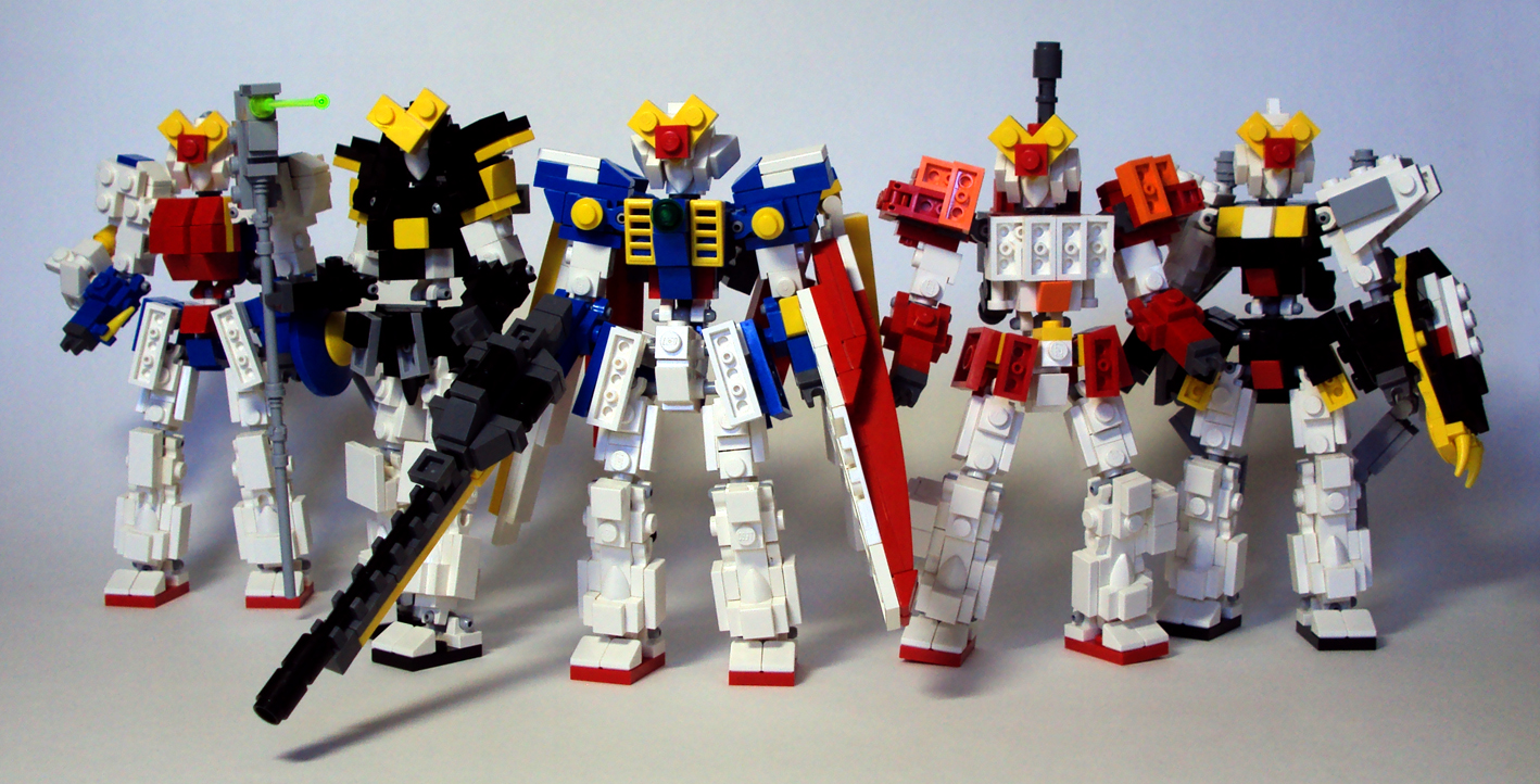 MicroScale LEGO Gundam Wing by MikeTehFox