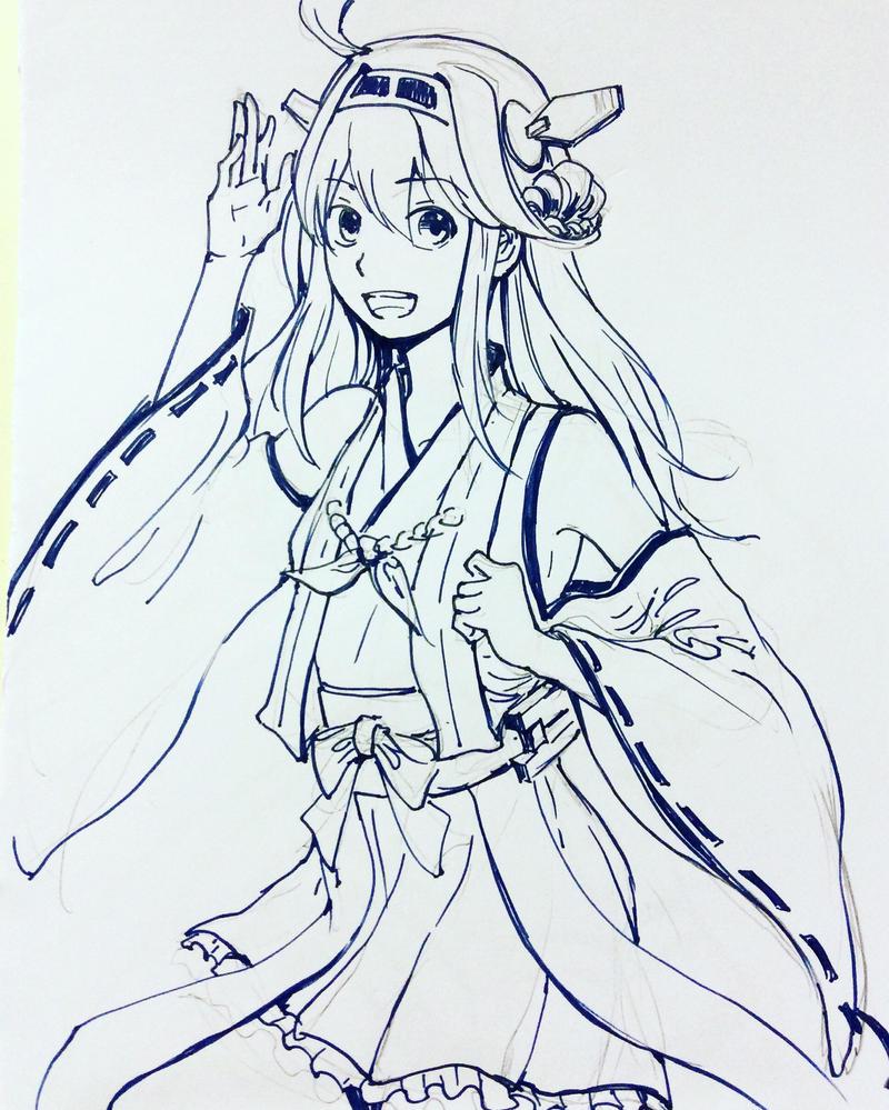 Kongou Greetings by shiroiakaru