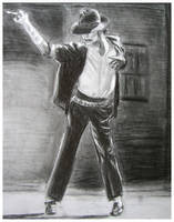 Michael Jackson BOW Drawing by DizzyEmotions