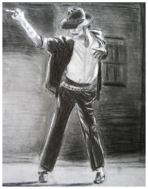 Michael Jackson BOW Drawing
