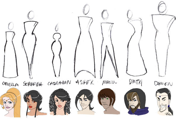 Shapes And Character Design : Character body shapes faces by meiken on deviantart