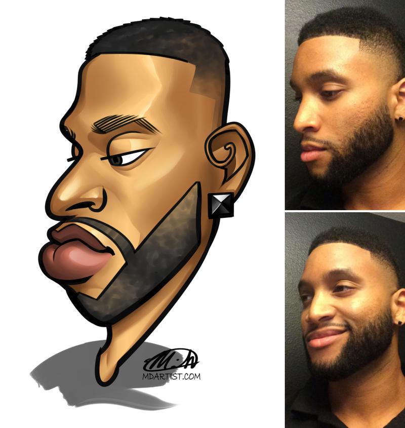 Face Caricature Commission by meiken