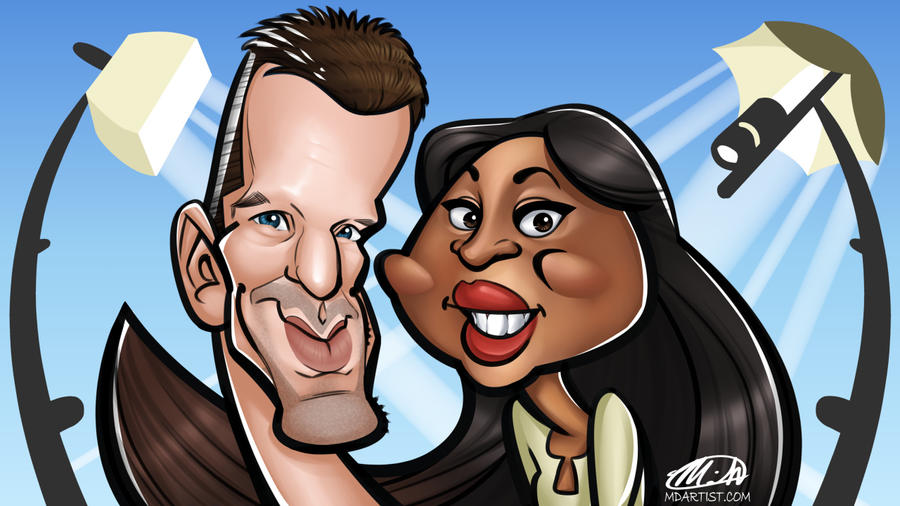 Photography Company Caricature Commission by meiken
