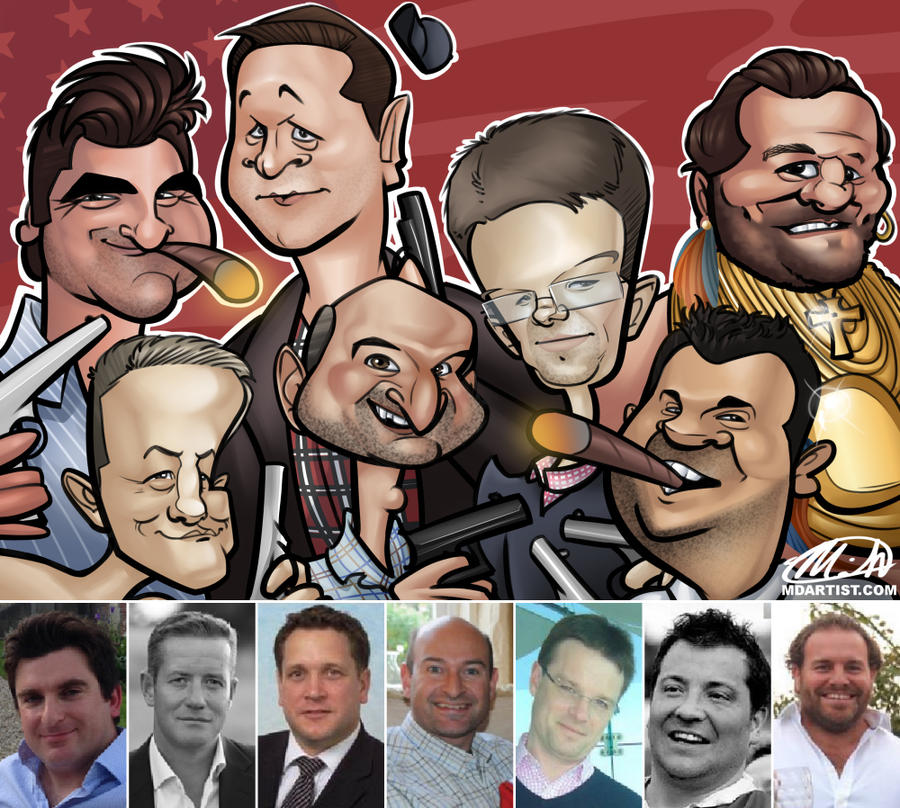 A-Team Caricature Commission by meiken