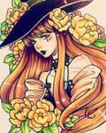 Inktober 21 - Misty the Autumn Witch by C-Yen