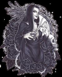 Morticia Addams by C-Yen