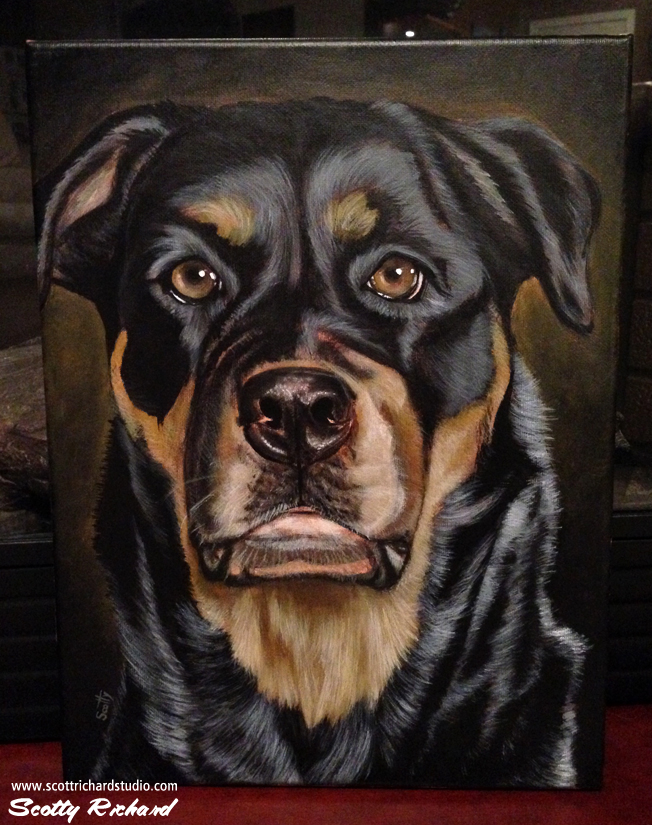 Female Rottweiler by SculptorScotty