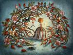 Rose Hips and Night Creatures by chuckometti