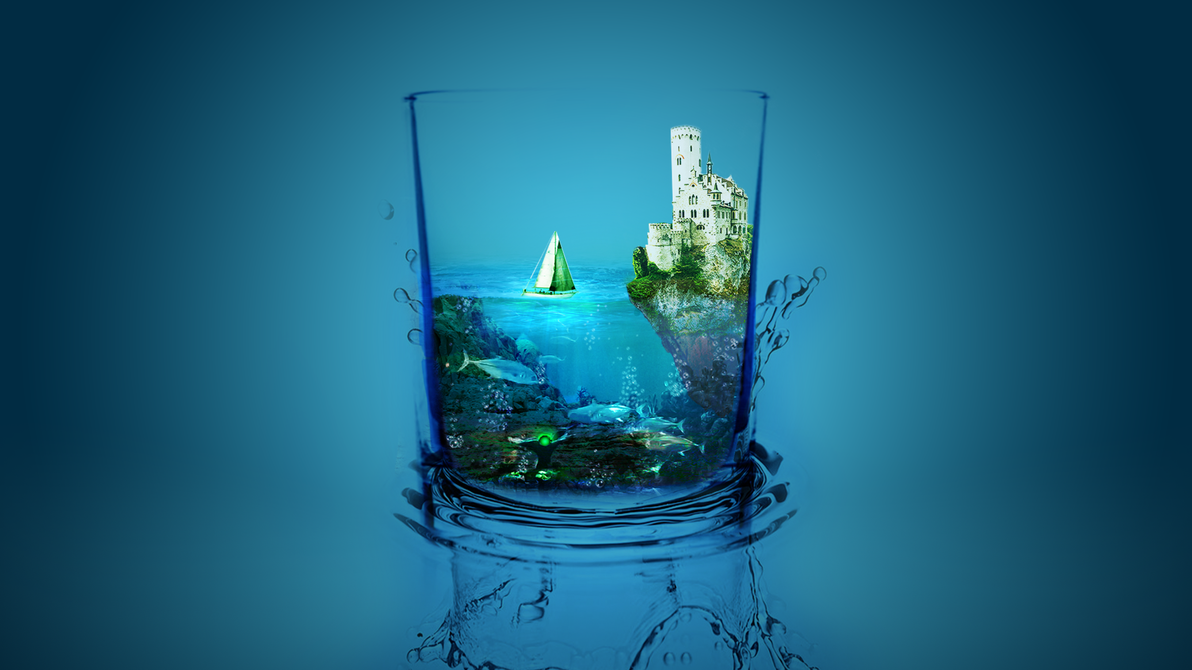 Glass water wallpaper by sunnygoldeneye on deviantart for Water glass images