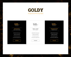 goldy pricing table by sunnygoldeneye
