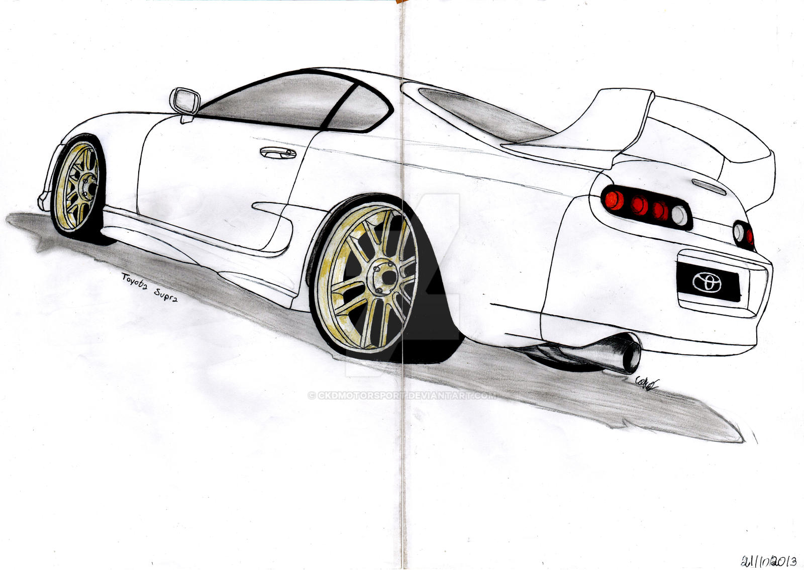 100 Toyota Supra Drawing Supra Made By Me If You