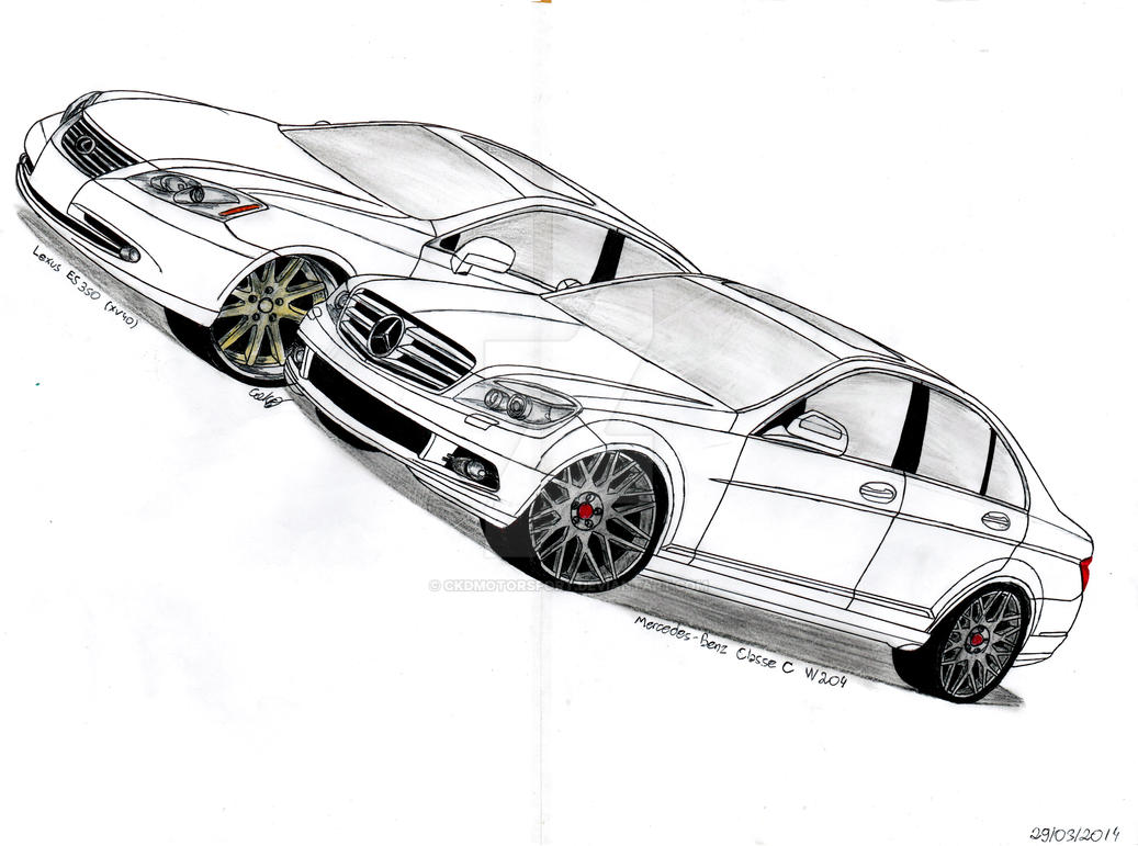 Mercedes benz c class w204 and lexus es 350 xv40 by for Mercedes benz c class 350