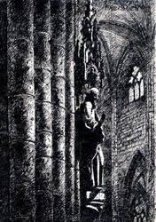 Gothic interior - Freiburg cathedral [pen] by Dominczak