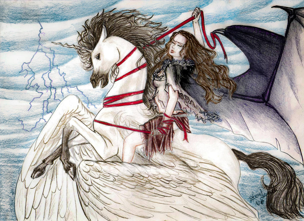 Lilith The Demon And Pegasus By Elenazambelli On Deviantart