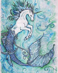 Hippocampus watercolor by ElenaZambelli