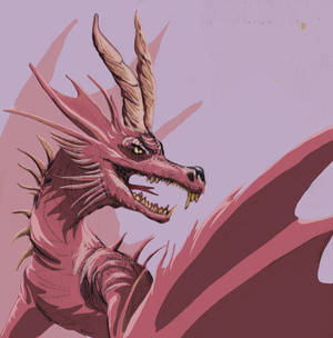 Red dragon digital sketch