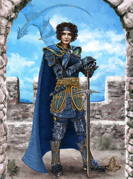 Kitiara Dragonlord - full body portrait V.1