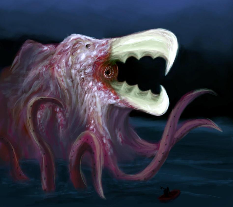 Water Colossus: Abyssal Lurker by ViolentQuiche