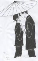 WAtanuki e Doumeki kiss by gaiasatou