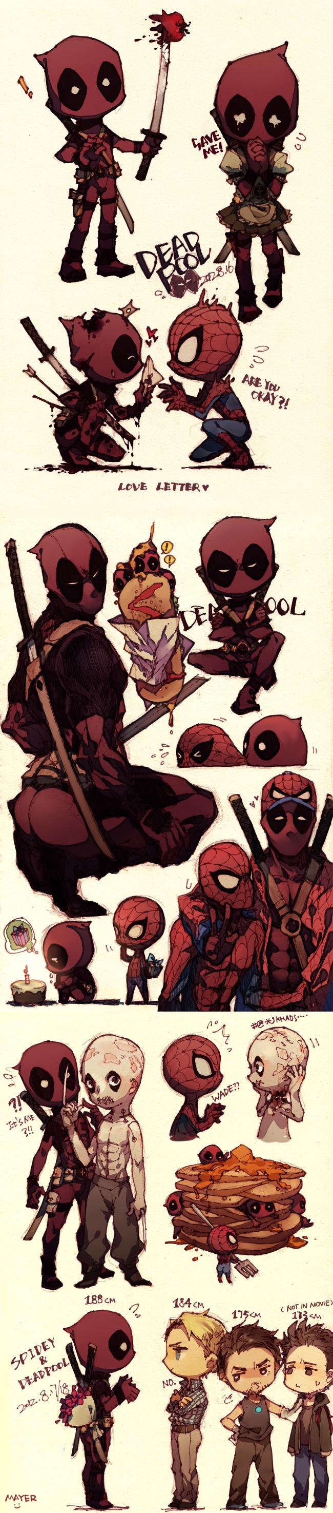 Deadpool/Spidey by CircusMayer