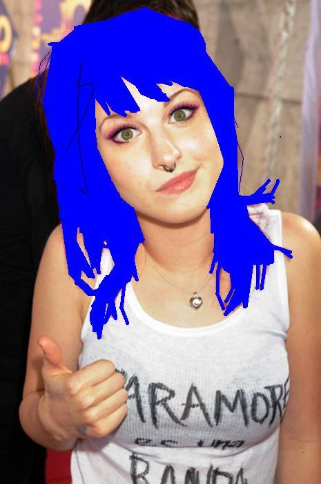 Hayley Williams w/ blue hair by JayRenegadeX on DeviantArt