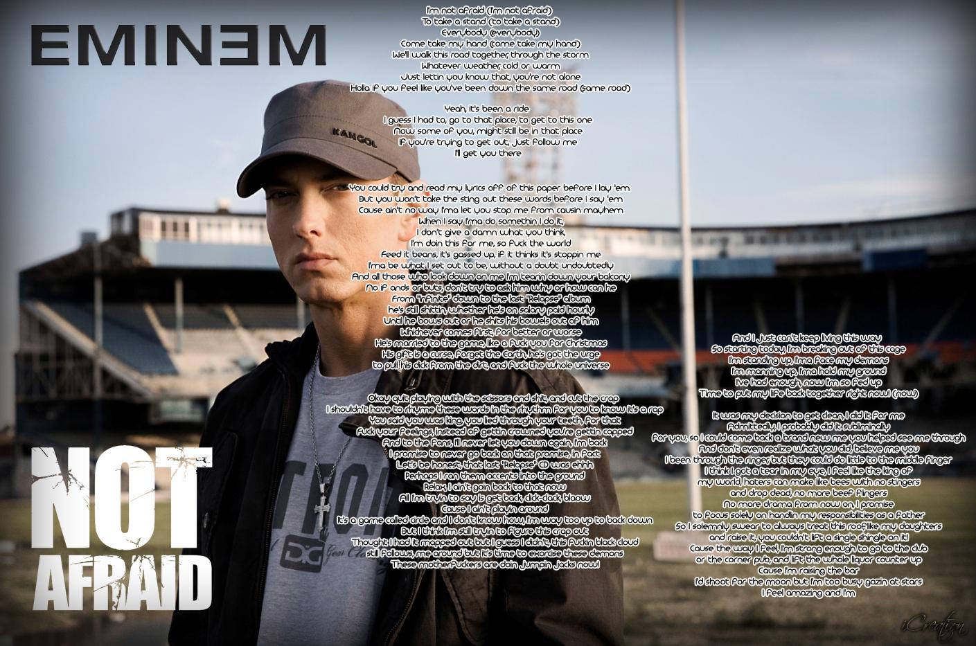 Eminem Not Afraid Lyrics by Tushaar. by Tushaar4gfx on ...