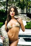Brooke and the Burmese Python