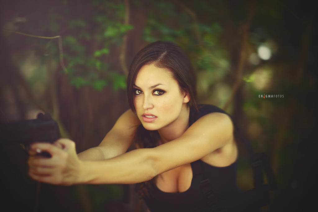 Angel as Lara Croft by Enigma-Fotos
