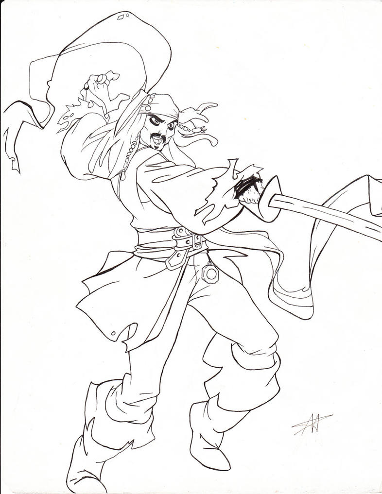 coloring pages jack sparrow - photo#31